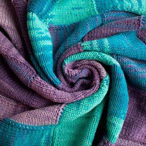 Фиолетовый с голубым плед для новорожденных (8)