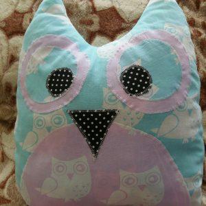 Декоративная подушка сова