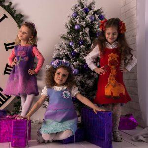 теплый сарафан для девочки 4-5 лет