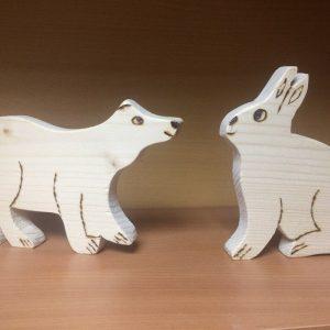 фигурки раскраски медведь и заяц_l